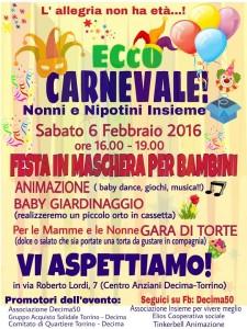 Carnevale a Decima sabato 6 febbraio 2016