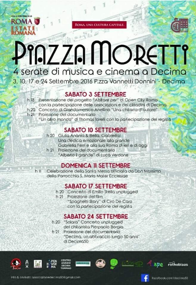 Piazza Moretti <decima settembre 2016 Roma